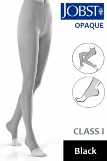 Jobst Opaque Class 1 Black Compression Tights with Open Toe