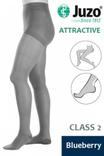 Juzo Attractive Class 2 Blueberry Compression Tights