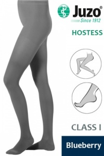 Juzo Hostess Class 1 Blueberry Compression Tights