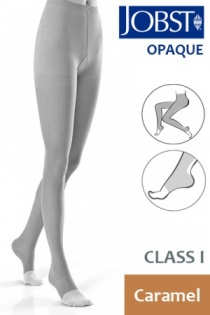 Jobst Opaque Class 1 Caramel Compression Tights with Open Toe