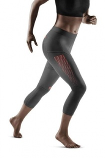 CEP Grey 3.0 3/4 Length Running Compression Tights for Women