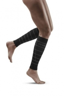 CEP Black Reflective Calf Compression Sleeves for Women