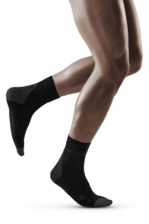 CEP Black/Dark Grey 3.0 Short Compression Socks for Men