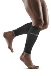 CEP Black/Light Grey Ultralight Compression Calf Sleeves for Men