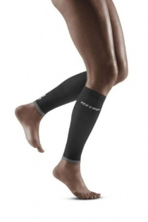 CEP Black/Light Grey Ultralight Compression Calf Sleeves for Women