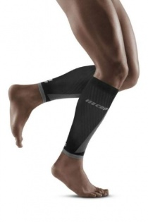CEP Black/Light Grey Ultralight Pro Calf Compression Sleeves for Men