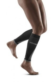 CEP Black/Light Grey Ultralight Pro Calf Compression Sleeves for Women