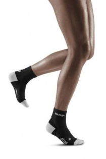 CEP Black/Light Grey Ultralight Short Compression Socks for Women