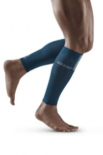 CEP Blue/Grey 3.0 Compression Calf Sleeves for Men