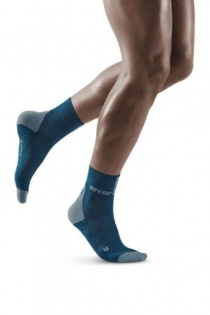 CEP Blue/Grey 3.0 Short Compression Socks for Men