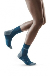 CEP Blue/Grey 3.0 Short Compression Socks for Women