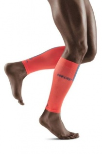 CEP Coral/Grey 3.0 Compression Calf Sleeves for Men