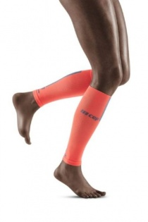CEP Coral/Grey 3.0 Compression Calf Sleeves for Women