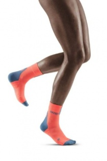 CEP Coral/Grey 3.0 Short Compression Socks for Women