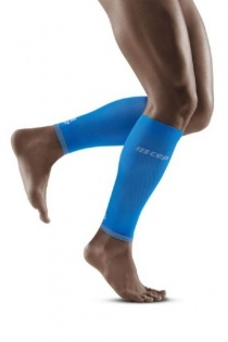 CEP Electric Blue/Light Grey Ultralight Compression Calf Sleeves for Men