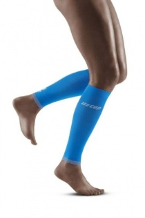CEP Electric Blue/Light Grey Ultralight Compression Calf Sleeves for Women