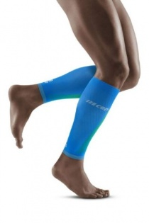CEP Electric Blue/Light Grey Ultralight Pro Calf Compression Sleeves for Men