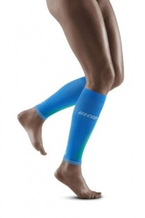CEP Electric Blue/Light Grey Ultralight Pro Calf Compression Sleeves for Women