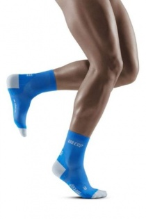CEP Electric Blue/Light Grey Ultralight Short Compression Socks for Men