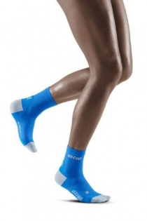 CEP Electric Blue/Light Grey Ultralight Short Compression Socks for Women