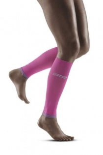 CEP Electric Pink/Light Grey Ultralight Compression Calf Sleeves for Women