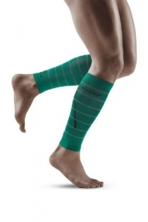 CEP Green Reflective Calf Compression Sleeves for Men