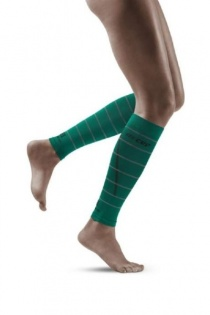 CEP Green Reflective Calf Compression Sleeves for Women