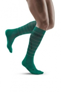 CEP Green Reflective Running Compression Socks for Men