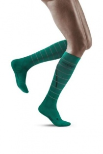 CEP Green Reflective Running Compression Socks for Women