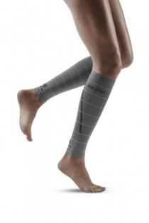 CEP Grey Reflective Calf Compression Sleeves for Women