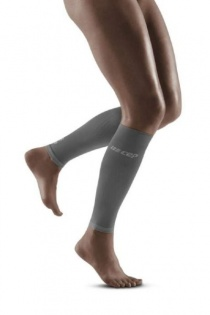 CEP Grey/Light Grey Ultralight Compression Calf Sleeves for Women