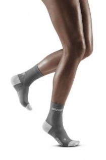 CEP Grey/Light Grey Ultralight Short Compression Socks for Women