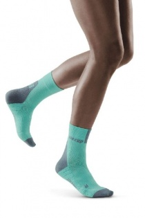 CEP Ice/Grey 3.0 Short Compression Socks for Women