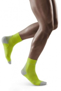 CEP Lime/Grey 3.0 Short Compression Socks for Men