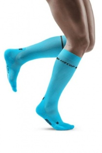CEP Men's Blue Neon Compression Socks for Running