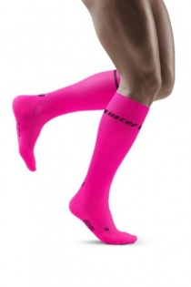 CEP Men's Pink Neon Compression Socks for Running