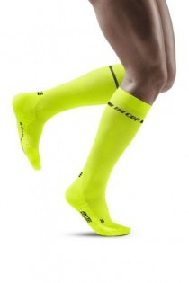 CEP Men's Yellow Neon Compression Socks for Running