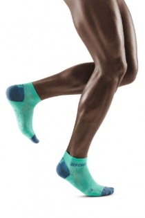 CEP Mint/Grey 3.0 Low Cut Compression Socks for Men