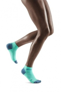 CEP Mint/Grey 3.0 Low-Cut Compression Socks for Women