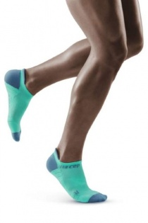 CEP Mint/Grey 3.0 No Show Compression Socks for Men