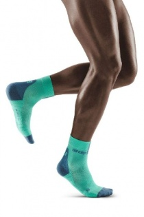 CEP Mint/Grey 3.0 Short Compression Socks for Men