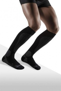 CEP Ski Thermo Black/Anthracite Compression Socks for Men