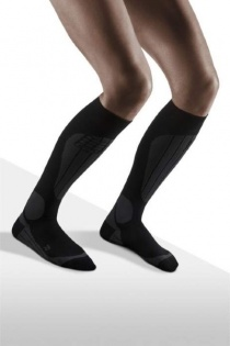 CEP Ski Thermo Black/Anthracite Compression Socks for Women