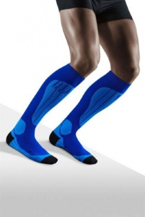 CEP Ski Thermo Blue/Azure Compression Socks for Men
