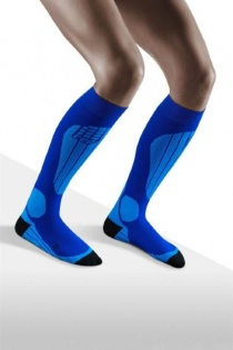 CEP Ski Thermo Blue/Azure Compression Socks for Women