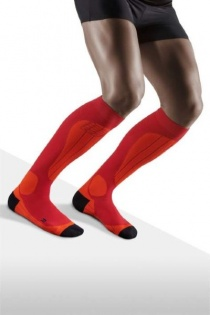 CEP Ski Thermo Orange/Cranberry Compression Socks for Men