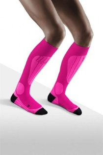CEP Ski Thermo Pink/Flash Pink Compression Socks for Women