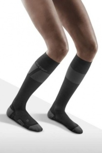CEP Ski Ultralight Black/Light Grey Compression Socks for Women