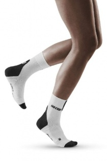 CEP White/Dark Grey 3.0 Short Compression Socks for Women