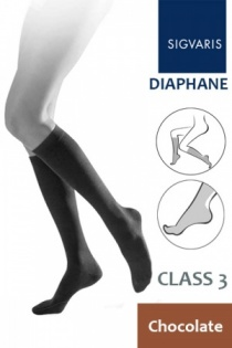 Sigvaris Diaphane Class 3 Chocolate Calf Compression Stockings